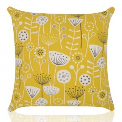 "18"" x 18"" Filled Bergen Yellow Cushion"