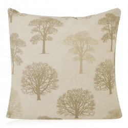 "18"" x 18"" Filled Cushion Linen Trees"