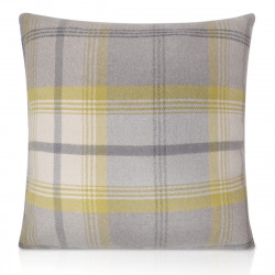 "18"" x 18"" Filled Balmoral Citrus Tartan Cushion"