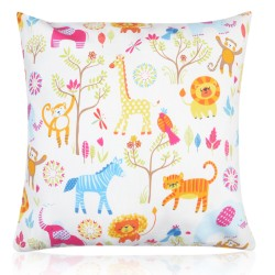 "18"" x 18"" Filled Cushion Jungle Boogie Nursery"