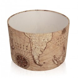 New World Map / Atlas Antique Lampshade