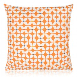 "18"" x 18"" Filled Prestigious Retro Zap Jaffa Orange Cushion"