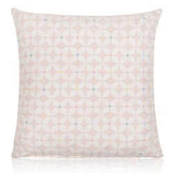 "18"" x 18"" Filled Prestigious Retro Zap Bonbon Pink Cushion"